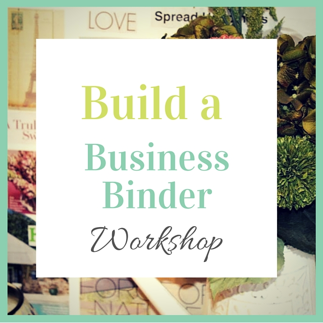 Upcoming Local Class Build a Vision Binder