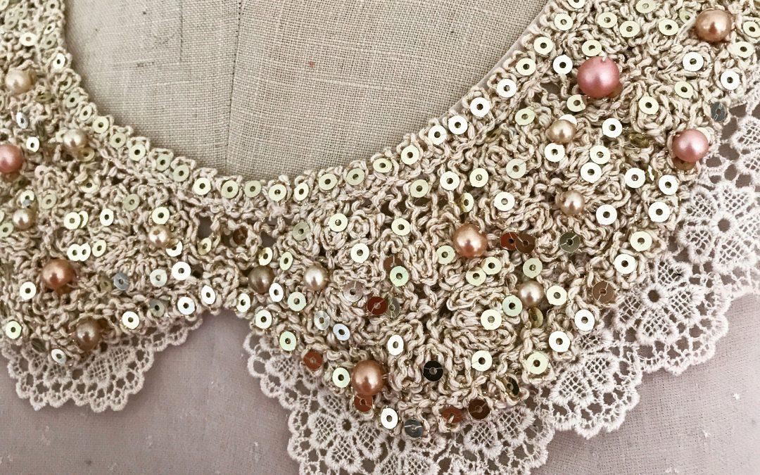 Pearl Collar Top