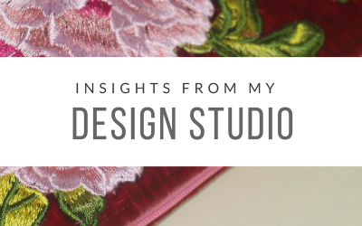Insights from my design studio….what I learned making this Pink Embroidered Case